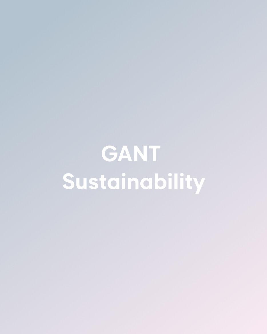 GANT Duurzaamheid