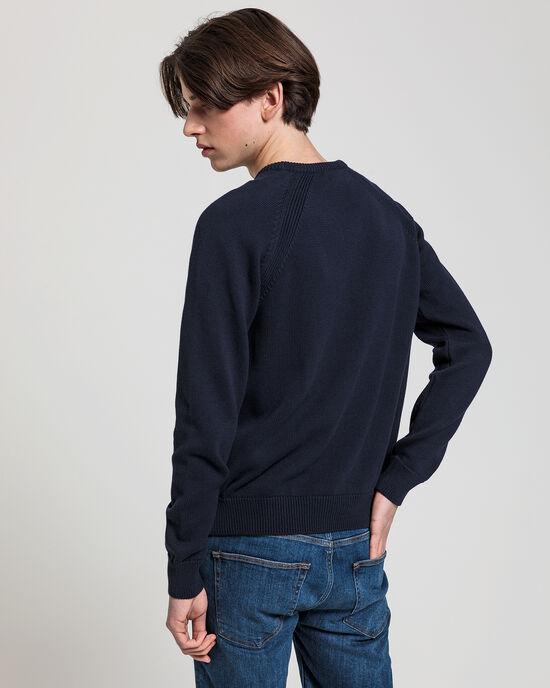 Teen Boys casual sweater met ronde hals van katoen