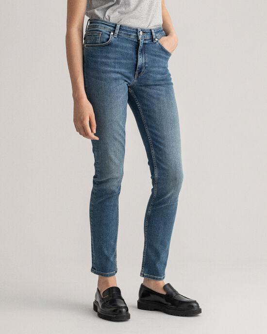 Farla Slim Fit jeans met extra stretch