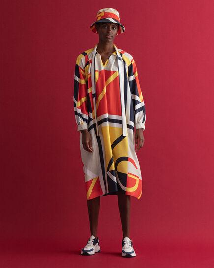 Robe midi en colour-block Iconic G