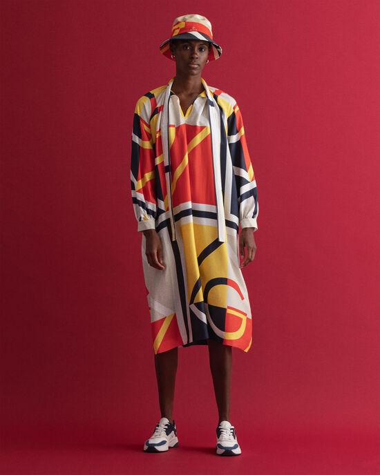 Iconic G midi-jurk met kleurblok