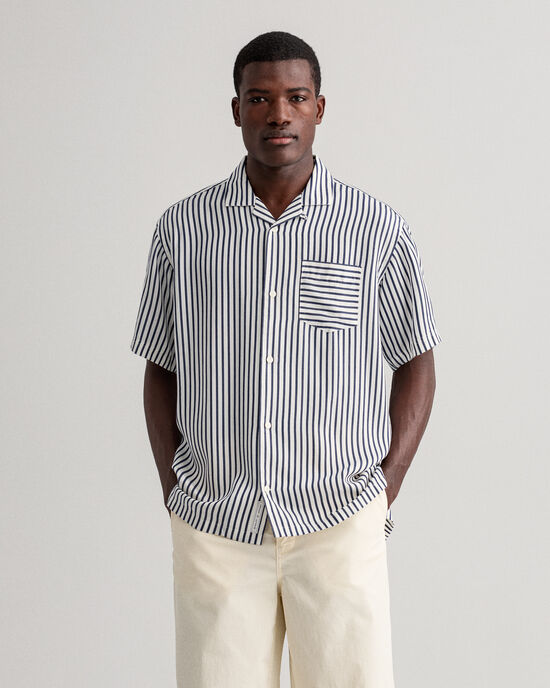 Chemise relaxed fit à rayures
