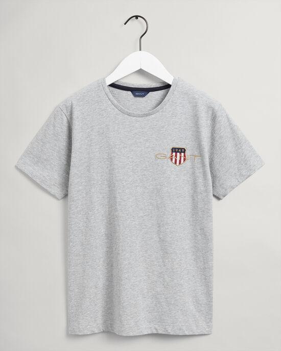 Teens T-shirt met geborduurd Archive Shield