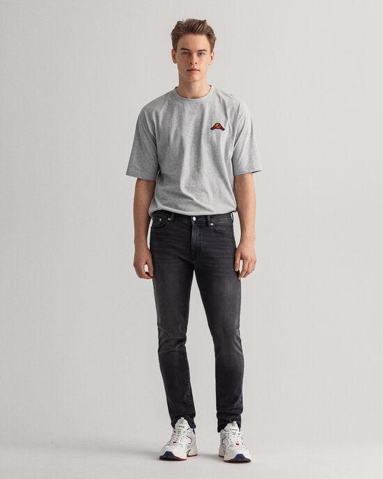Maxen Extra Slim Fit Active-Recover zwarte jeans
