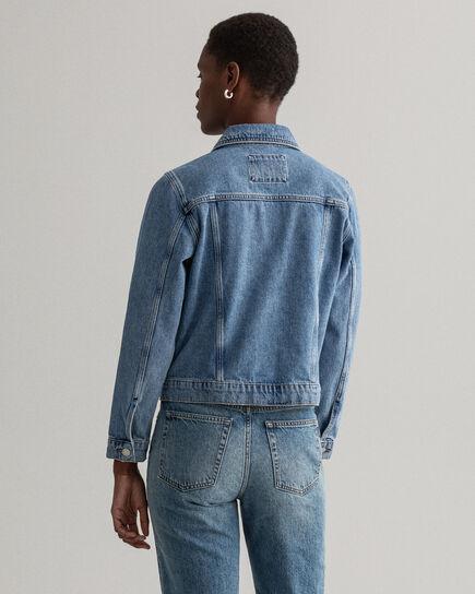 Veste en jean indigo