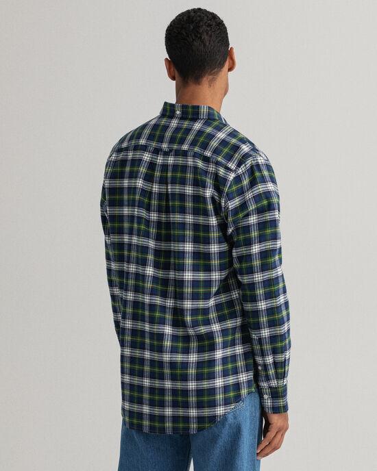 Chemise regular fit en flanelle à carreaux