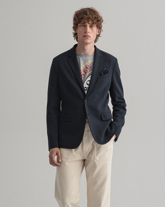 Mini Pattern jersey blazer