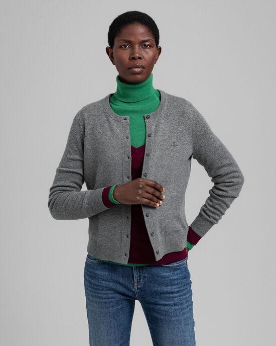 Vest met ronde hals van superfijne lamswol