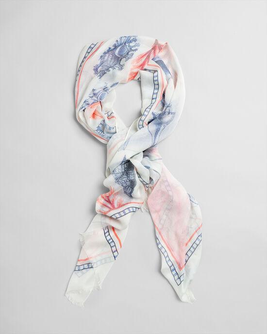Sjaal met Seashell print