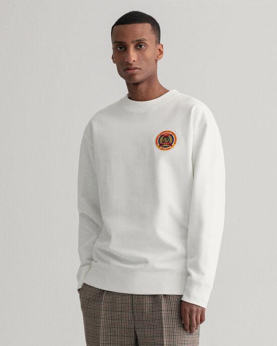Relaxed Fit World Crest sweatshirt met ronde hals