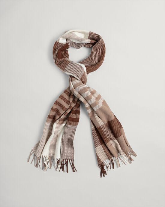 Écharpe en laine à carreaux
