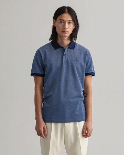 Polo Rugger Oxford en coton piqué quadricolore