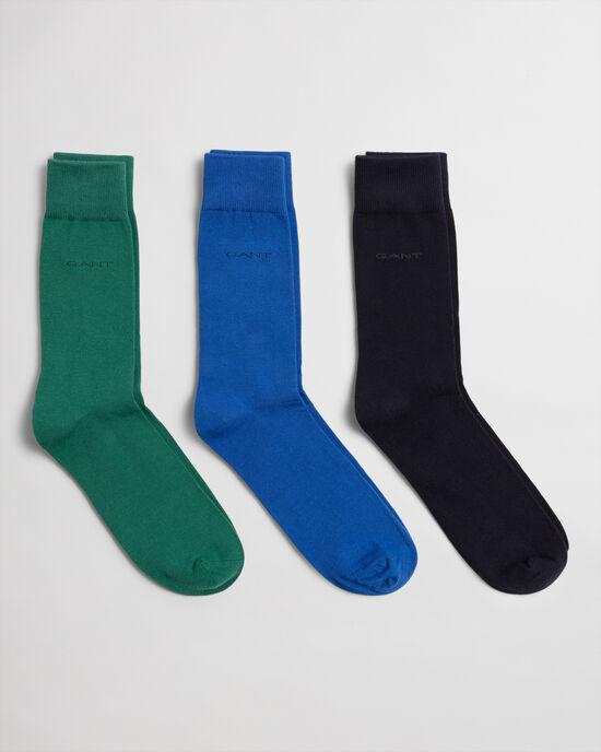 Set van drie paar zachte katoenen sokken