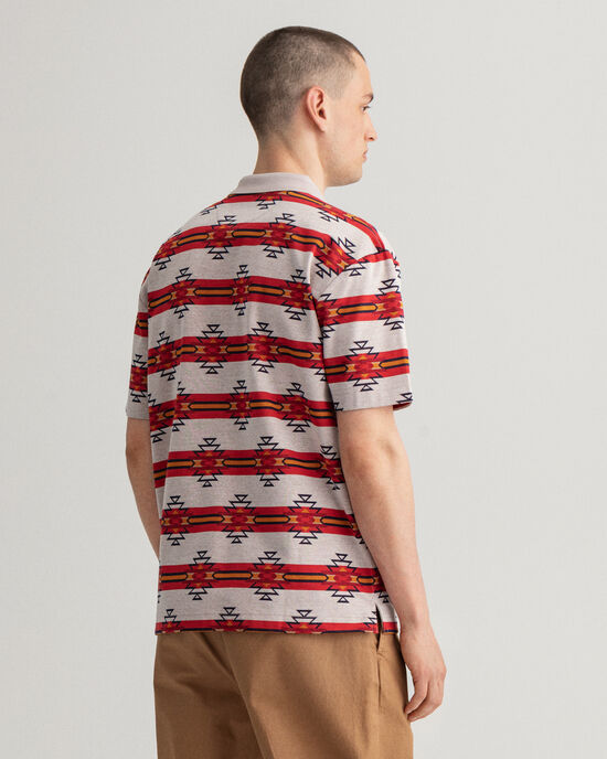 Polo Rugger relaxed fit à manches courtes Geometric