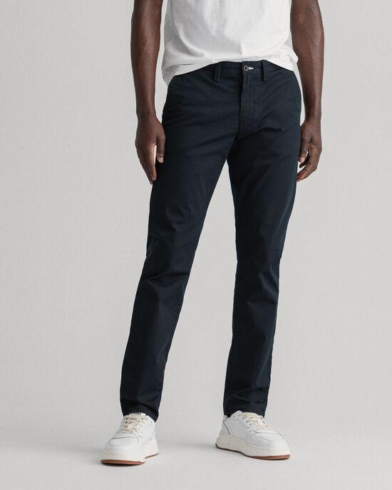 Pantalon chino slim fit en sergé