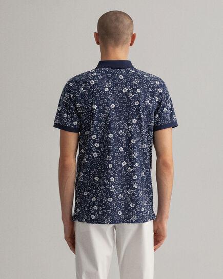 Polo Rugger en coton piqué à imprimé Freedom Flower