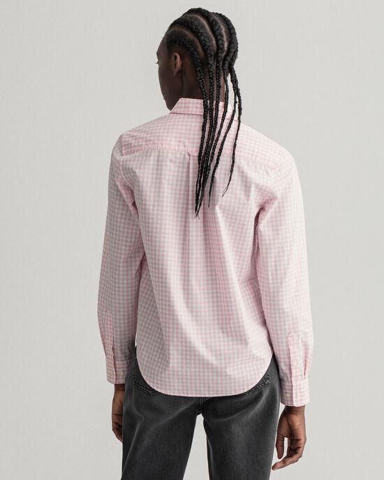 Poplin hemd met Gingham-ruitje