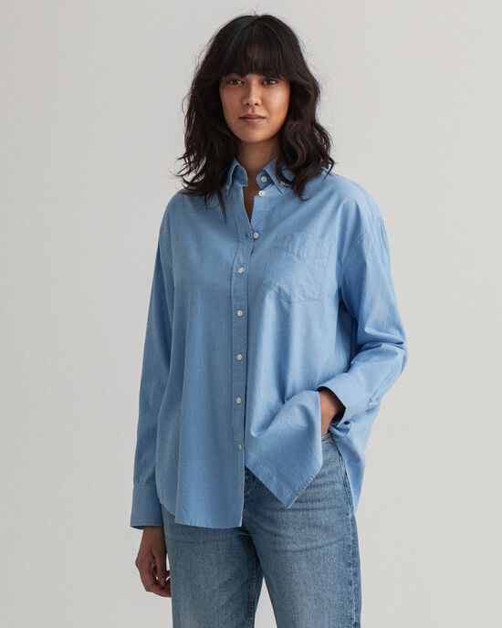 Relaxed Fit Oxford-hemd
