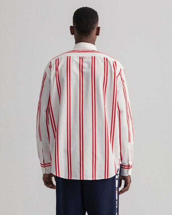 Relaxed Fit hemd met brede gedrukte streep