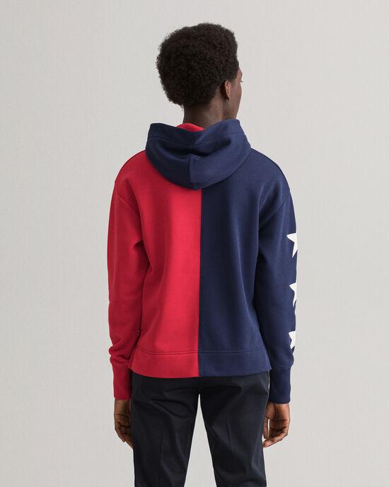 Retro Shield hoodie met korte rits