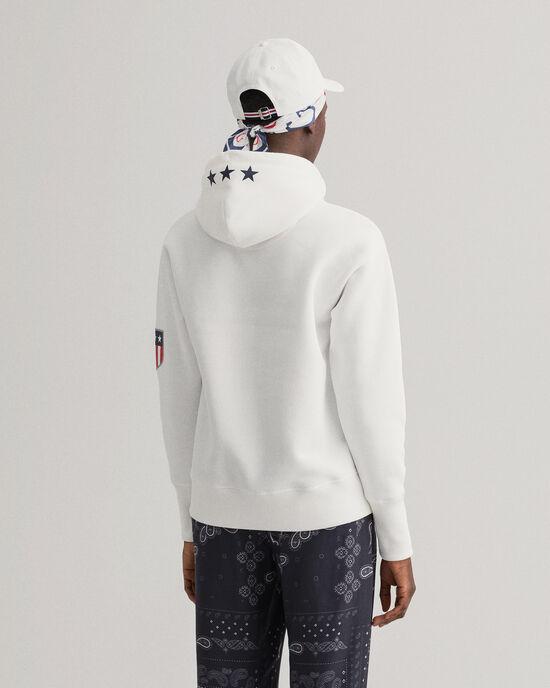 Retro Shield hoodie van sweatstof