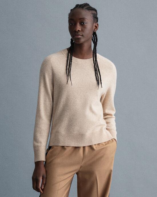Sweater met ronde hals van kasjmier