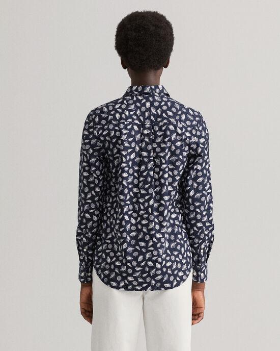 Regular Fit hemd met Shell print