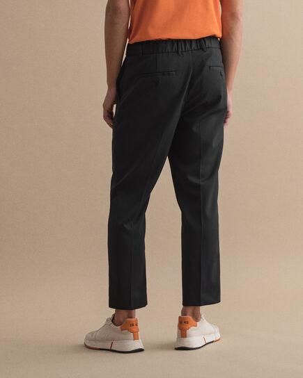 Pantalon style jogging en sergé avec cordon de serrage