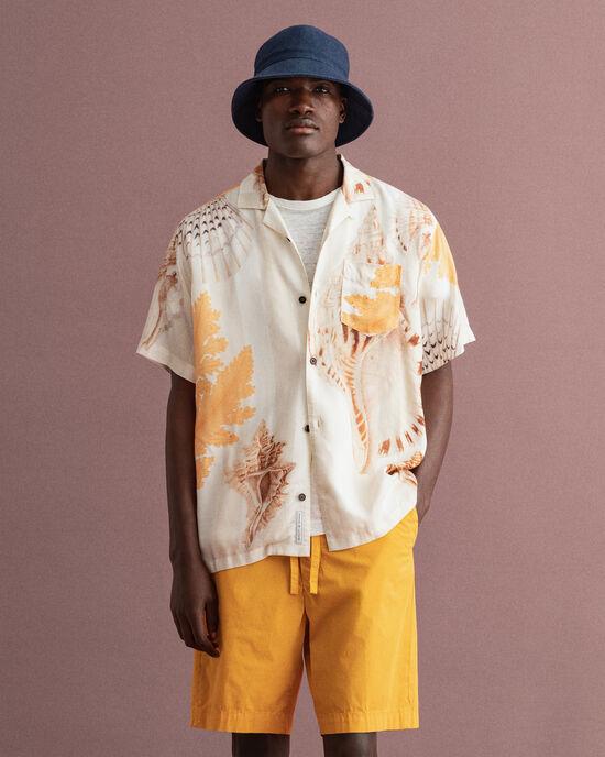 Relaxed Fit hemd met Seaside print