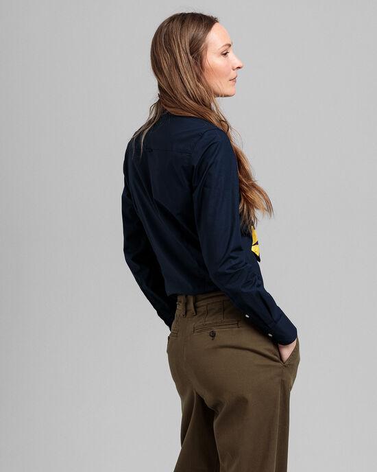 Hemd van stretchpoplin