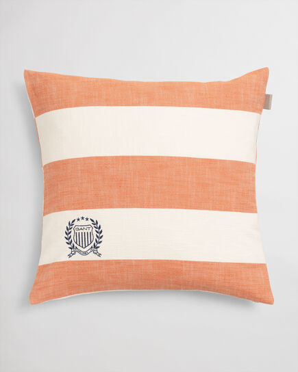Housse de coussin à rayures Rugby