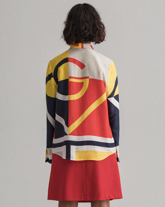 Iconic G hemd met kleurblokken