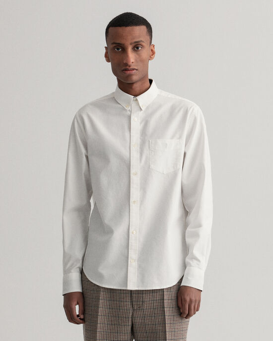 Regular Fit Crest hemd met borduursel