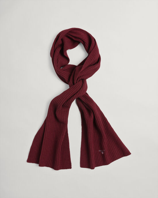 Écharpe en laine tricotée