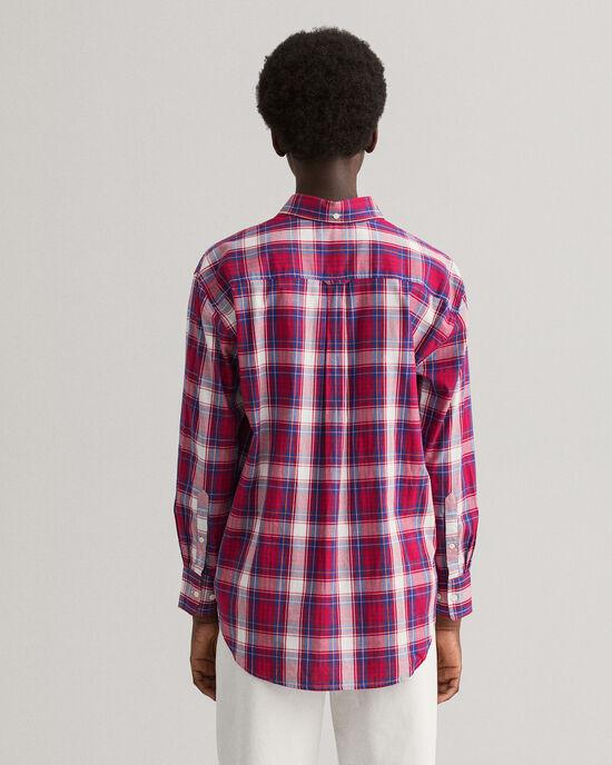 Relaxed Fit Windblown Oxford-hemd met ruitje