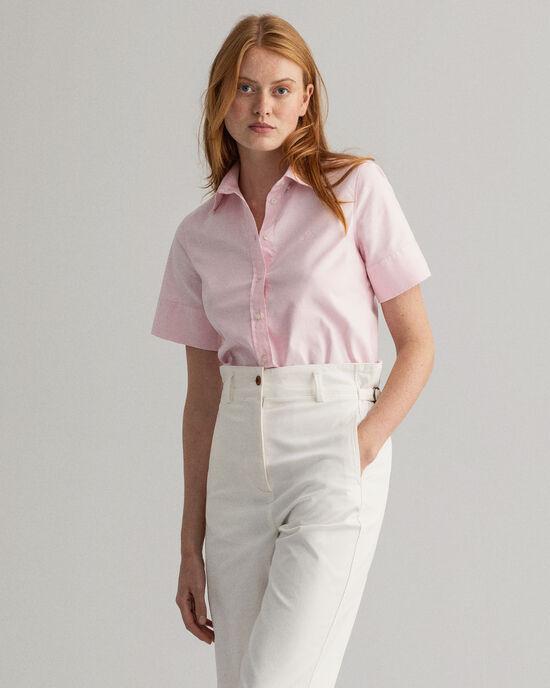 Oxford-hemd met stretch en korte mouwen