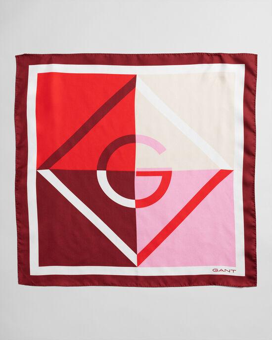 Zijden sjaal met kleurblokken en Iconic G