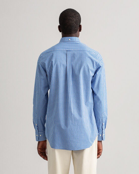 Regular Fit poplin hemd met Gingham-ruitje