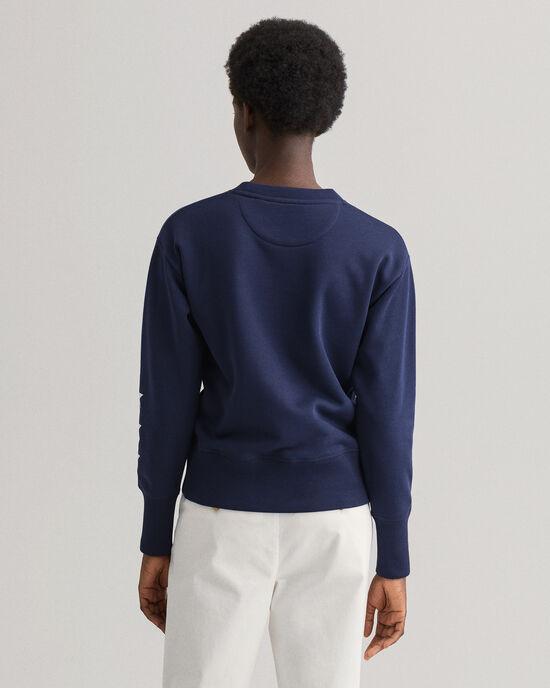 Retro Shield sweatshirt met ronde hals