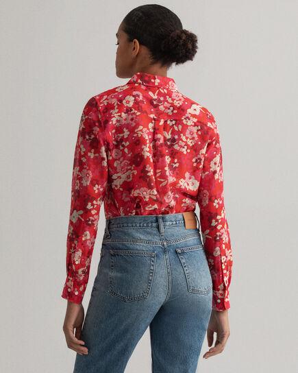 Chemise en coton et soie à imprimé Liberation Bouquet