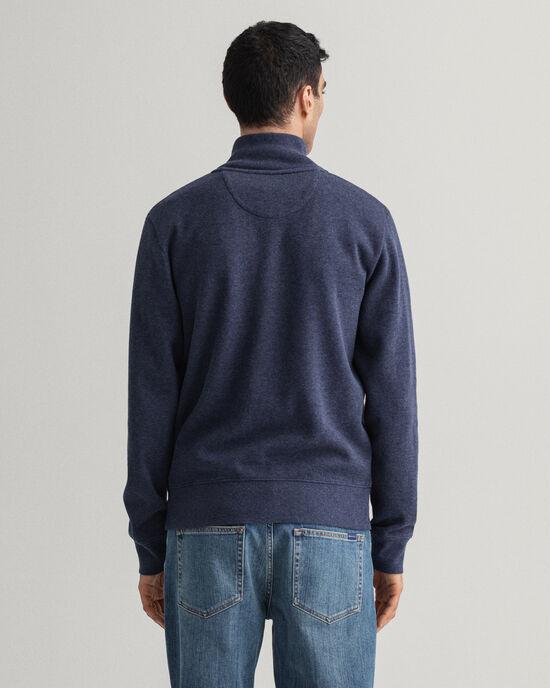 Sacker Rib sweatshirt met korte rits