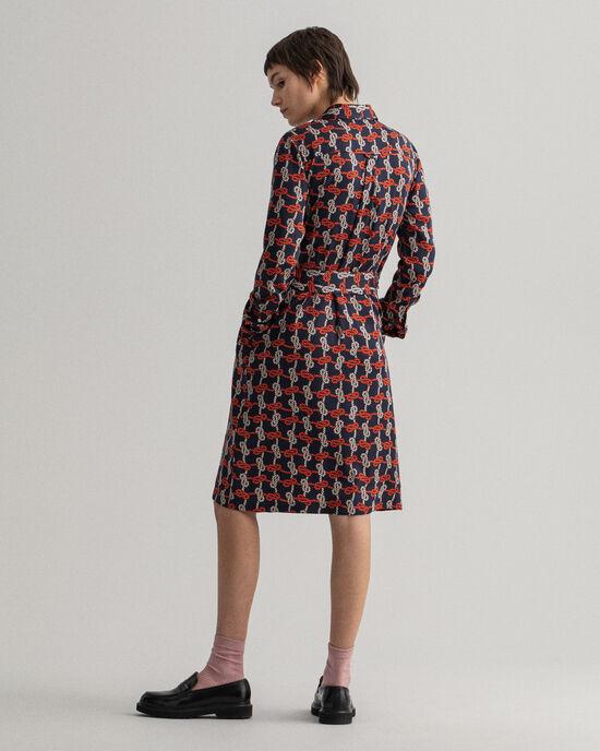 Robe-chemise Pure Prep à imprimé Knot