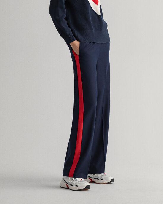 Nette broek met rechte pijp van wolmix