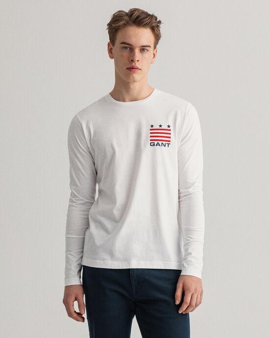 Retro Shield T-shirt met lange mouwen