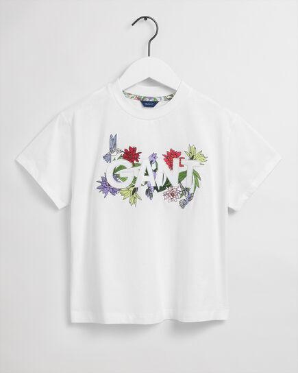 T-shirt Flower Logo Teen Girls
