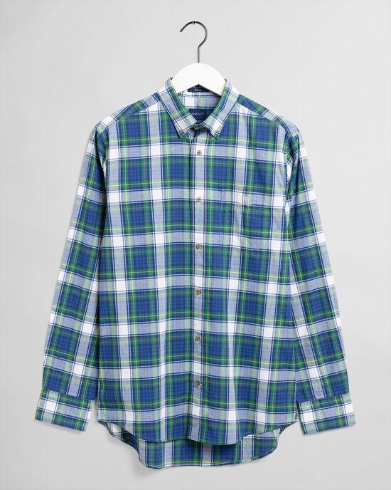 Regular Fit geruit hemd van gewassen poplin