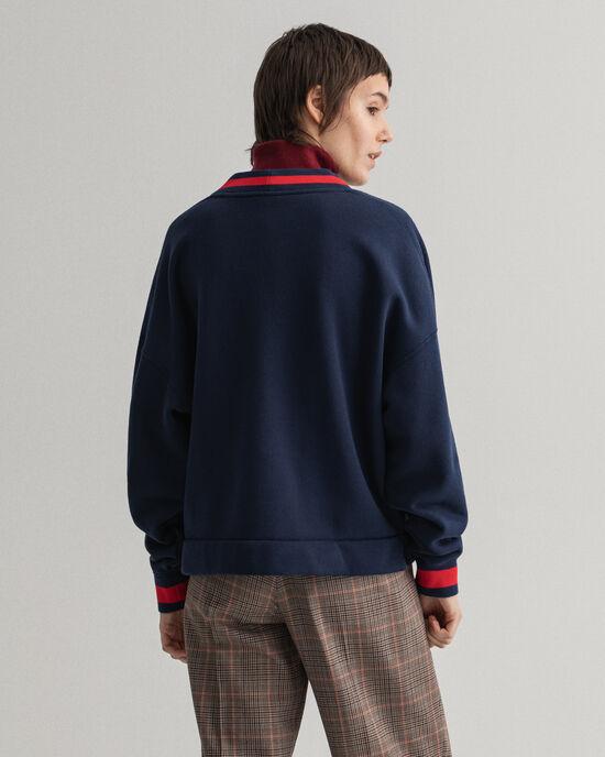 Retro Shield sweatshirt met borduursel