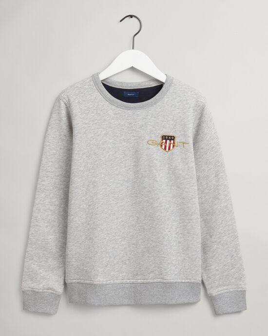 Sweat-shirt ras du cou brodé Archive Shield Teens