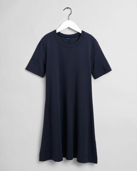 Robe trapèze en jersey