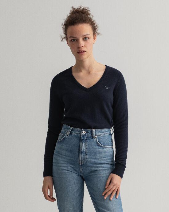 V-hals sweater van extra zachte lamswol